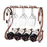 DXY-JJ Wine Racks Creative Wrought Iron Multi Bottle Upside Down Wine Glass Rack Fashion Home Decoration Hanging Cup Holder