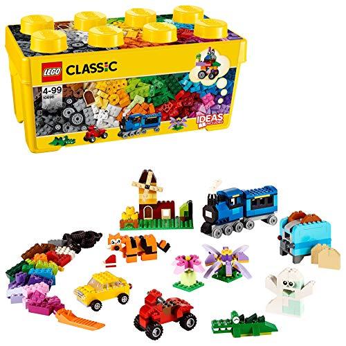 LEGOClassicScatolaMattonciniCreativiMediaperLiberarelaFantasia,Faciledacustodire,perBambinidai4Anni,10696