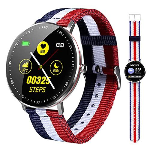 BNMY Smartwatch, Impermeable Reloj Inteligente con Cronómetro, Pulsera Actividad Inteligente para Deporte, Reloj De Fitness con Podómetro Smartwatch Mujer Hombre para Android iOS,A