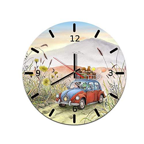 LUOYLYM Cartoon Kreative Heimat Wanduhr Acryl Wanddekoration Uhr Stummschaltung Spiegel Uhr L181125-a015 28CM