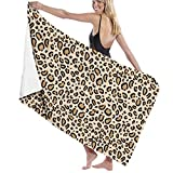 QMS CONTRACTING LIMITED Safari Leo Adult Microfiber Beach Towel Oversized 31x51 Inch Fast Dry Highly Absorbent Multipurpose Use Bath Sheet for Women Men
