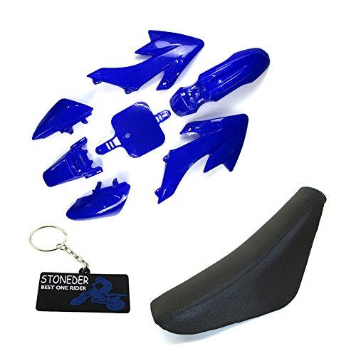 STONEDER Carenado de plástico azul de espuma para CRF50 XR50 Pit Dirt Bike y sus copias chinas 50 90125 160cc SSR YCF IMR Atomik Thumpstar Piranha DHZ GPX