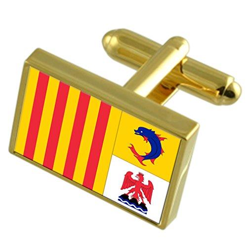 Select Gifts Provincia Alpes Côte d'Azur Provincia Francia Oro Gemelos de bandera...