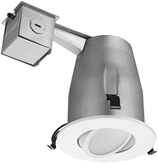 Lithonia Lighting LK4G2MW M4 Gimbal Kit with Integrated LED, White, 4-Inch