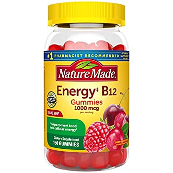 Nature Made Energy B12 1000 mcg Gummies 150 Count Value Size