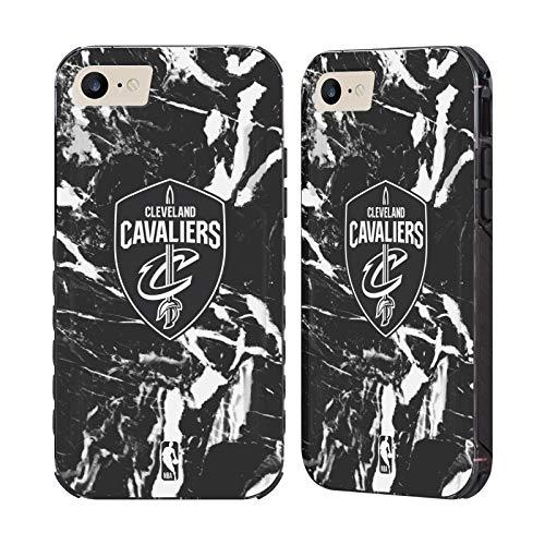 Head Case Designs Ufficiale NBA Marmoreo 2019/20 Cleveland Cavaliers Cover Nera Evolution Compatibile con Apple iPhone 7 / iPhone 8 / iPhone SE 2020
