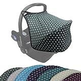 Capota Bambiniwelt UV50+ para Maxi-Cosi Cabriofix, capota para bebé, asiento de coche con estrellas Estrellas gris oscuro.