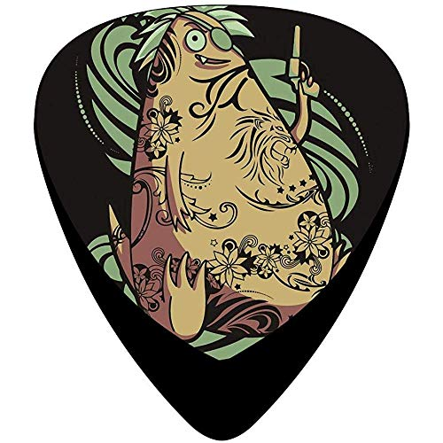 Monster Tattoo Guitar Picks Celluloid Fashion Boys Complete Assorted 12 Pack