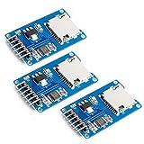 HiLetgo 3個セット Micro SD TFカードメモリシールドモジュール Arduinoに対応 SPIマイクロSDアダプタ 6PIN [並行輸入品]