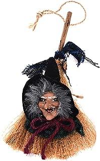 WINJEE, Flying Witches on Broomsticks Decoración Colgante Halloween