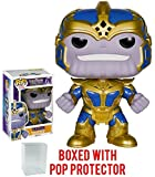 Funko Pop! Guardians of the Galaxy - Thanos 6-Inch Vinyl Figure (Bundled with Pop BOX PROTECTOR CASE)