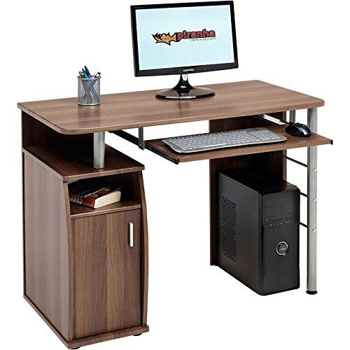 Piranha kompakter Computer-Schreibtisch mit Schrank und Regalfach PC 1w