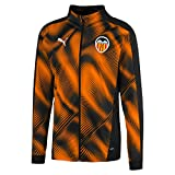 Puma Valencia CF Temporada 2020/21-Stadium Jacket Chaqueta, Unisex, Negro Black-Vibrant Orange, XL