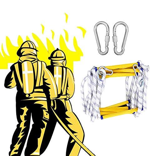 Escalera Cuerda Emergencia, Antideslizante Durable Capacidad De Carga hasta 400kg con Ganchos Rescate Rápido Adultos Y Niños ZHANGXU (Size : 30m)