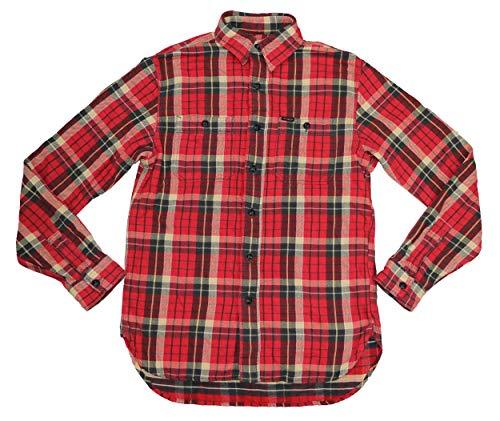 Polo Ralph Lauren Plaid Cotton Adirondak Flannel Button Down Shirt (Red, X-Small)