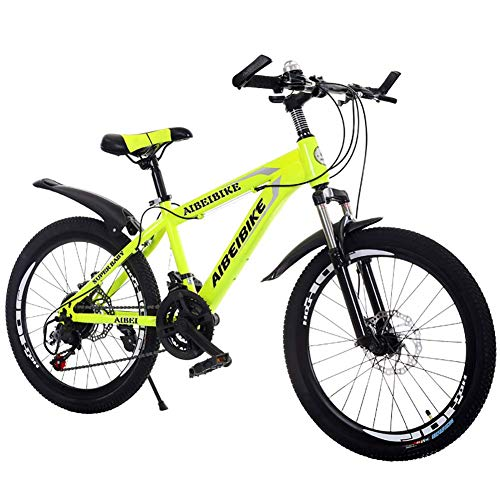 AUKLM Comfort Bikes Aerobic Exercise Mountain Bike, Dual Disc Brake Shock Absorber Student Mountain Bike, 20 Inch Kids Bicycle Mountain Bike Bicycle Adult Student Youth Men and WOM