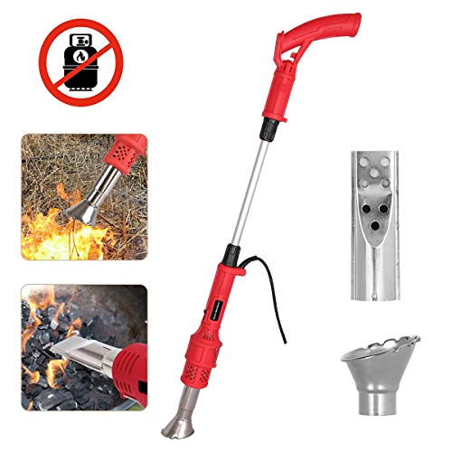 Best Buy! Electric Weed Burner Garden Gear Weed Torch with Nozzle, Burning Grass and Charcoal 2 in 1...