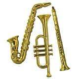 Beistle Gold Plastic Musical Instruments