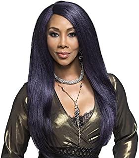 Vivica A Fox Hair Collection PAVIOLA - Deep Swiss Lace New Futura Synthetic Fiber Front Wig, 4, 12.9 Ounce