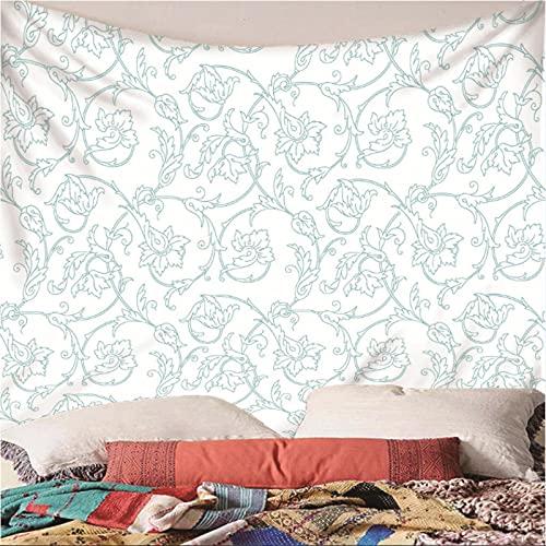 Weibing Tapiz de impresión en Color 3D Estilo Simple patrón Personalizado patrón Creativo decoración Colgante de Pared para Dormitorio Sala de Estar 240(An) x220(H) cm