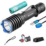 Olight Warrior X Pro Taktische Taschenlampe 2100 Lumen / 500 Meter Neutral Weiße LED USB Magnetisch Aufladbare Mächtig Leistungsstarke Taschenlampen, mit 21700 Akku + Batteriefach
