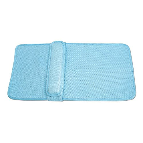 IDEAWORKS Home Spa lumbale bad kussen, Cushion PE, Suction Cups: 100% PVC, blauw, 81 x 28 x 1 cm