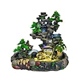Zimmerbrunnen Zierbrunnen Tischplatte Brunnen Brunnen Indoor-Desktop-Gebirgs-Kaskading-Wasserfälle...