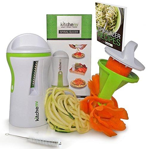 Kitchen-nv Spiralizzatore 3 in 1, con e-book e...