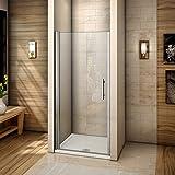 Porte de douche 100x195cm Porte pivotante en niche verre anticalcaire