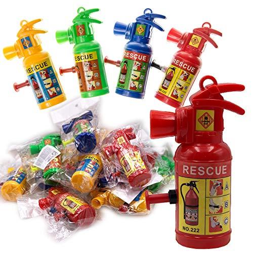 JuniorToys Feuerlöscher Wasserspritze 24 Stück - Mitbringsel Kindergeburtstag Mottoparty Feuerwehr