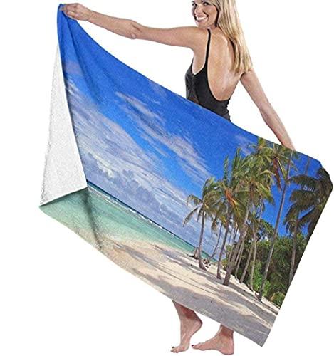 Toalla de Playa Beach Island Sky Cloud Toalla de baño Extra Grande Especial para Hombres y Mujeres Natación Aguas Termales Viajes Yoga Deportes Camping Cubierta de Tumbona para bañarse o bañarse e