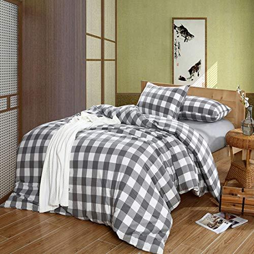 Teyun. Startseite Bettdecke Vier Stücke, Farbe Multiple Choice. (Color : Gray)