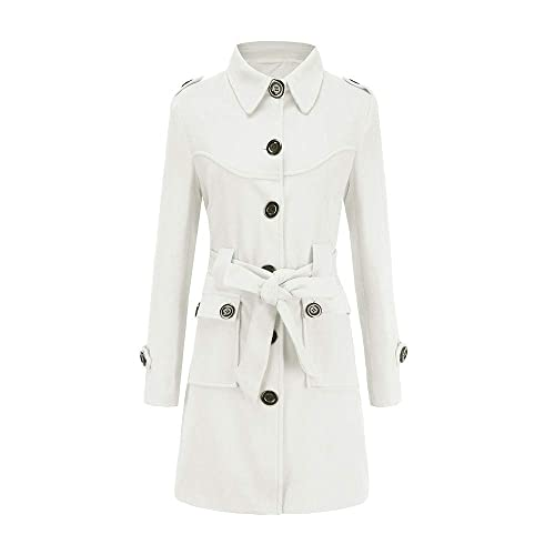 search for newest cheap prices save up to 60% Womens White Trench Coat: Amazon.co.uk
