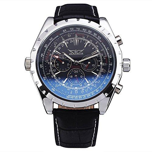 JARAGAR Fashion Casual Reloj Hombre Macho Business Reloj de Esqueleto automático mecánico Deporte ejército Militar muñeca Relojes Regalo
