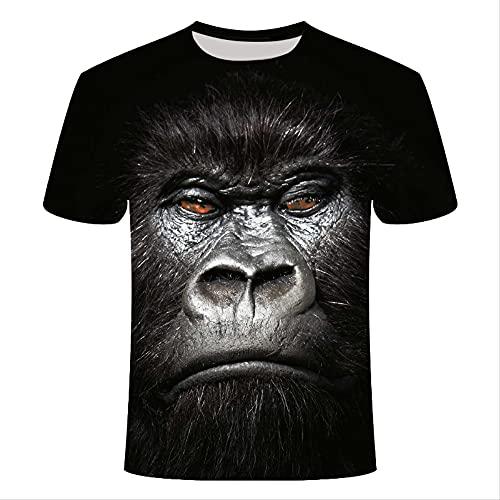 XSHUHANP Herren T-Shirts 3D Druck Lustige Neuheit Tier Schwein Kuh Hund Orang-Utan Schaf Serie T-Shirt Männer Und Frauen 3D Gedrucktes T-Shirt Harajuku Style T-Shirt Sommer Top XL