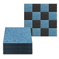 16 ピース 黒そして青 防音断熱音消音アコースティックパネル 300 x 300 mm SD1093