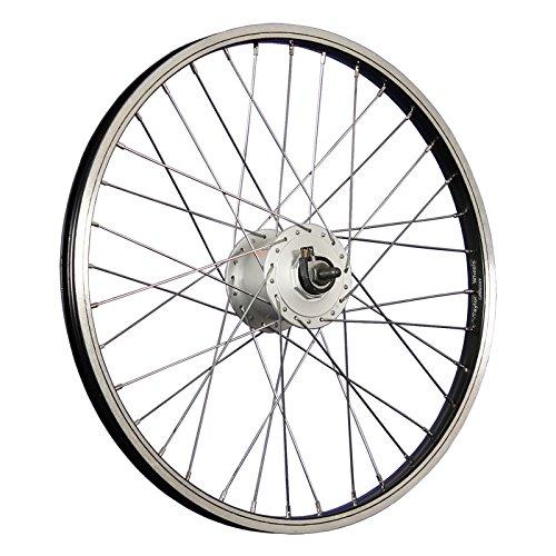 Taylor-Wheels 20 Zoll Vorderrad Laufrad Alufelge Shimano Nabendynamo DH-C3000 - schwarz