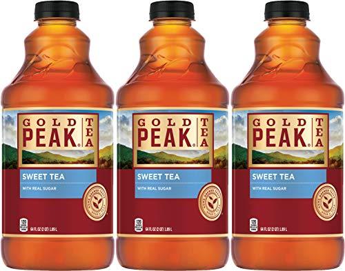 of popular iced tea brands Gold Peak Sweet Tea with Real Sugar, 64 Fl Oz (Pack of 3, Total of 192 Fl Oz)