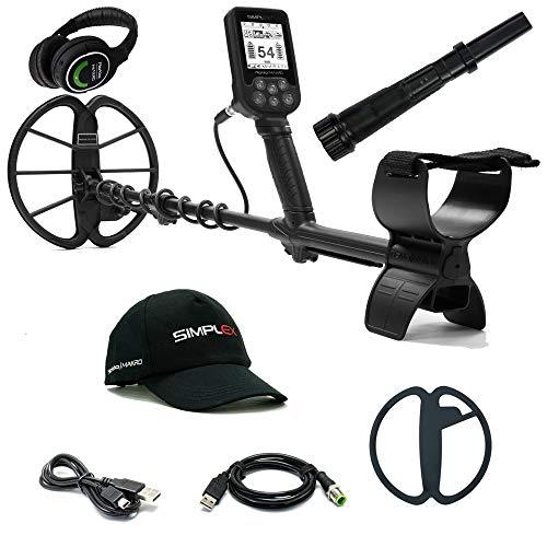 Nokta Makro Simplex+ WHP Waterproof Detector with 11' Coil, Wireless Headphone & PulseDive Pinpointer