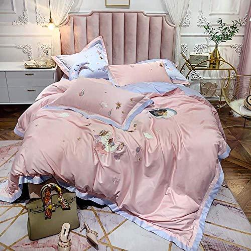 Conjuntos de tapa de edredón Cubiertas de doble edredón Conjunto Juego de camas rosadas Juego de cama King Tamaño de 100 juegos de cama Conjuntos de colchones Cubiertas de edredón Conjunto Juego Doble