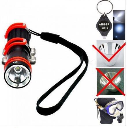 Generic ARCHON W1A Mini Tauchlampe + 1Stück aibber Ton LED Schlüssel Kette