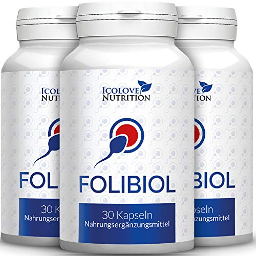 Folibiol | Das Original für Männer von Icolove | Kinderwunsch | Fruchtbarkeit | 90 Kapseln | 2+1 gratis