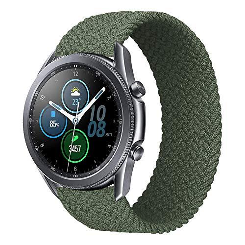 iBazal 20mm Galaxy Watch 3 41mm Armband 40mm 44mm Nylon Geflochtenes Solo Loop Band Ersatz für Samsung Galaxy Watch 42mm,Active 40mm,Gear S2 Classic,Gear Sport Uhrenarmband Ersatzband - 6 Grün