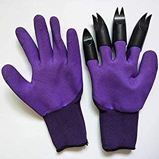 ODIN-Household Gloves - Garden Gloves with 4 Claws Garden Genie Rubber Gloves Quick Easy to Dig and Plant For Digging Plan...