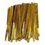 TOOGOO(R) 100 PC hierro de alambre dorado cierre de...
