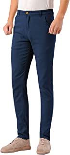 Men's Skinny Stretchy Khaki Pants Colored Pants Slim Fit Slacks Tapered Trousers