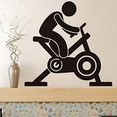 Tianpengyuanshuai roterende fiets muursticker vinyl sticker kunst fitness centrum creatieve afneembare waterdichte decoratie