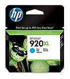 HP 920XL CD972AE, Cian, Cartucho de Tinta de Alta Capacidad Original, compatible con impresoras de inyección de tinta HP Officejet Series 6000, 7000