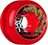 Bones Wheels Caballero SPF Dragon 58mm Clear Red Skateboard Wheels (Set of 4)
