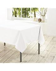 Douceur D'Intérieur 1720218, tafelkleed rechthoekig, 140 x 300 cm, Essentiel, polyester effen, wit